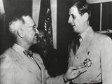 President Truman Admires the Legion of Merit Degree Medal He Has Just Awarded Charles De Gaulle