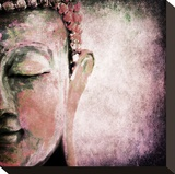 Pinkish Sgrafitto Buddha