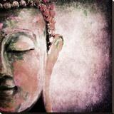 Pinkish Sgrafitto Buddha