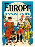 Europe - Pan American Airways (PAA) - British Yeomen of the Guard  Pontifical Swiss Guard