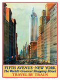 Fifth Avenue  New York  USA - The World's Greatest Shopping Street - Travel by Train