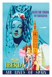 Enjoy the Charm of Andalusia  Spain - Spanish Senorita - Iberia Air Lines of Spain
