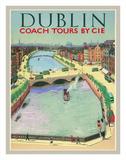 Dublin  Ireland - Coach Tours by CIÉ - O'Connell Bridge over the River Liffey