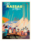Fly to Nassau by Clipper - New Providence Island  The Bahamas - Pan American World Airways (PAA)