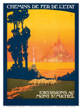 Excursions Au - Mont St Michel - Normandy  France - French State Railways