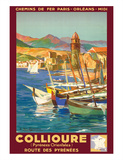 Collioure  France - Eastern Pyrenees - Railways Paris-Orleans-Midi