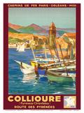 Collioure  France - Eastern Pyrenees - Railways Paris-Orleans-Midi