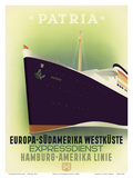 Europe to South America West Coast - Express Service - Hamburg-American Line