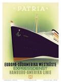 Europe to South America West Coast - Express Service - Hamburg-American Line