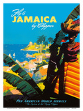 Fly to - Jamaica - by Clipper - Pan American World Airways Reproduction d'art par Mark Von Arenburg