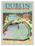 Dublin  Ireland - Coach Tours by CIÉ - O'Connell Bridge over the River Liffey