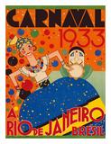 Carnaval (Carnival) 1933 - A Rio de Janeiro  Bresil (Brazil)