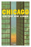 Chicago  USA - Lake Shore Drive - United Air Lines