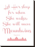 Let Her Sleep Mountains Pink