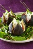 Stuffed Figs on Rocket Salad