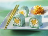 Sweet Maki with Marzipan and Melon