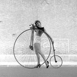 Beauty and the Bike - Penny Farthing Girl