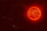 Red Dwarf Sun Floating Through Space