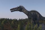 Suchomimus Dinosaur in a Prehistoric Environment