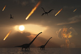 The Last Days of Dinosaurs Caused by a Giant Asteroid Impact