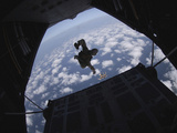 Airmen Jump Out of an Hc-130 Hercules over Djibouti