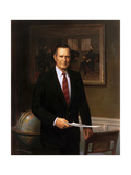 Presidential Portrait of President George HW Bush