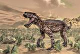Lycaenops Dinosaur Roaring in the Desert
