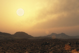 View from the Surface of Rocky Exoplanet Gliese 581E