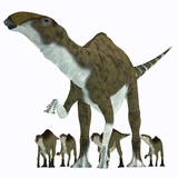 Brachylophosaurus with Offspring