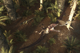 A Dimorphodon Pterosaur Chasing an Insect
