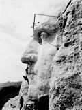 Construction of George Washington'S Face on Mount Rushmore  1932