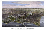 Vintage Print of Washington DC