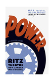 Vintage Wpa Poster for Power  a Living Newspaper Play by the Federal Theatre Project