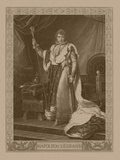 Napoleon Bonaparte in His Coronation Costume  Sitting on His Imperial Throne