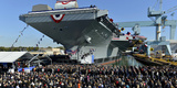 Ford-Class Supercarrier in the Newport News Shipyard  Virginia