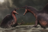 Confrontation Between Two Spinosaurus Aegyptiacus