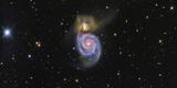 The Whirlpool Galaxy and its Companion Galaxy Ngc 5195