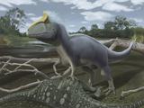 Cryolophosaurus Standing over it's Prey