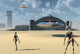 Alien Reptoids and their Flying Saucers at Area 51