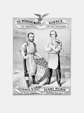 American History Election Print Featuring Ulysses S Grant and Henry Wilson