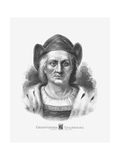 Vintage Print of Christopher Columbus