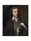 Vintage English History Painting of Lord Protector Oliver Cromwell