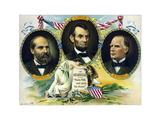 Vintage Print of Presidents James Garfield  Abraham Lincoln  and William Mckinley