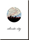 Atlantic City Map Skyline