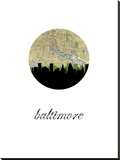 Baltimore Map Skyline