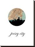 Jersey City Map Skyline