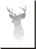 Grey Geometric Deer