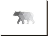 Grey Geometric Bear