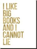 I Like Big Books Golden White
