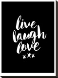 Live Laugh Love Blk
